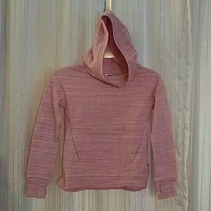 Girls pink hoodie.